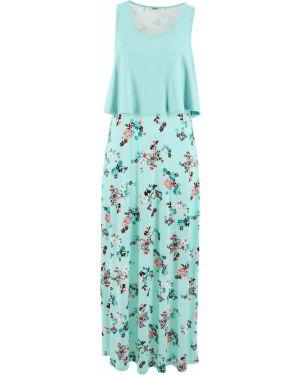 Платье макси зеленый Bonprix