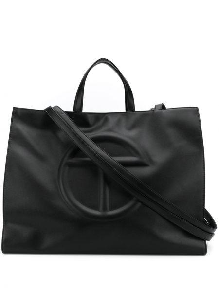 Czarna torba na ramię skórzana Telfar