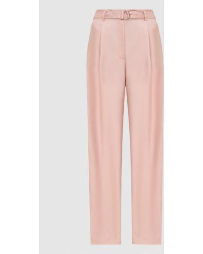 Повседневные шелковые розовые брюки Sally Lapointe