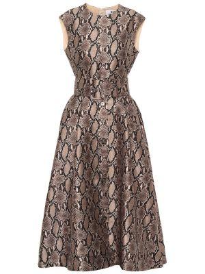 Платье миди классическое с принтом Msgm