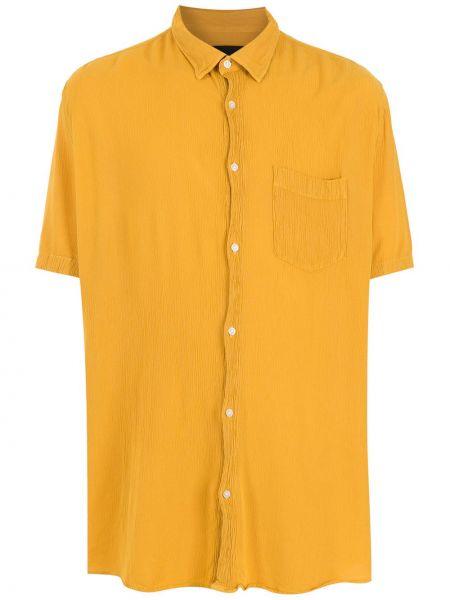 Żółta koszula krótki rękaw Osklen