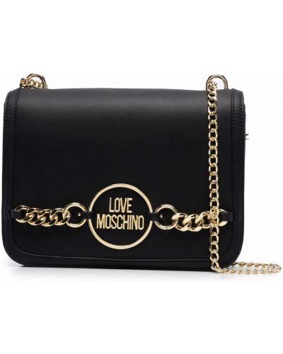 Złoty łańcuszek - czarny Love Moschino