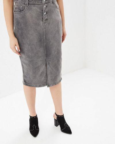 Серая джинсовая юбка Lost Ink Plus