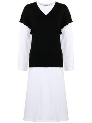 Sukienka długa z długimi rękawami - biała Enfold