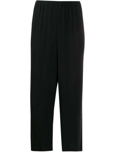 Прямые черные укороченные брюки с поясом Eileen Fisher