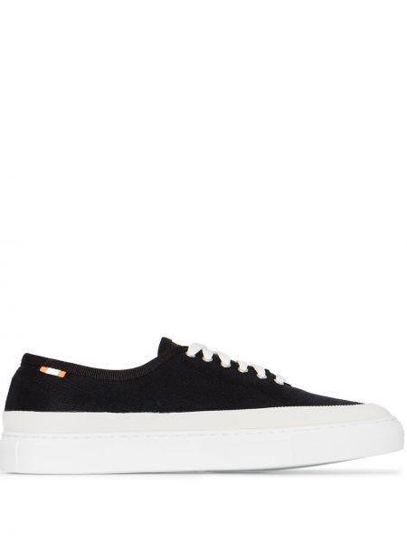 Czarne sneakersy skorzane sznurowane Diemme