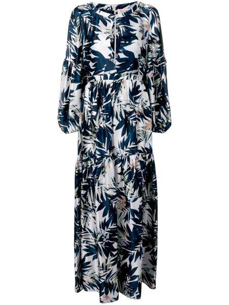 Шелковое черное платье макси с вырезом Black Coral
