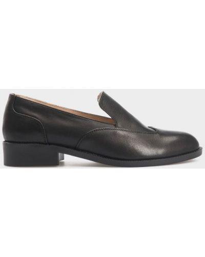 Туфли на каблуке кожаные классические Gem
