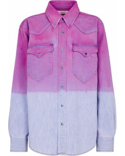 Ватная хлопковая синяя джинсовая рубашка Isabel Marant, ã‰toile