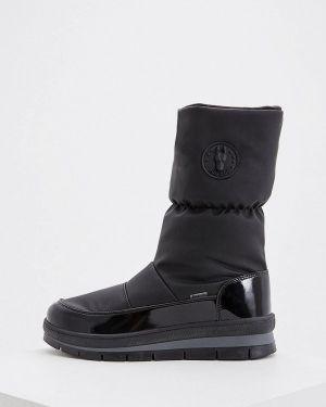 Кожаные дутики - черные Jog Dog