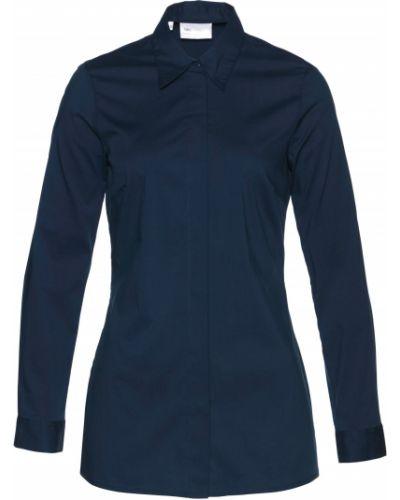 Блузка с длинным рукавом с V-образным вырезом классическая Bonprix