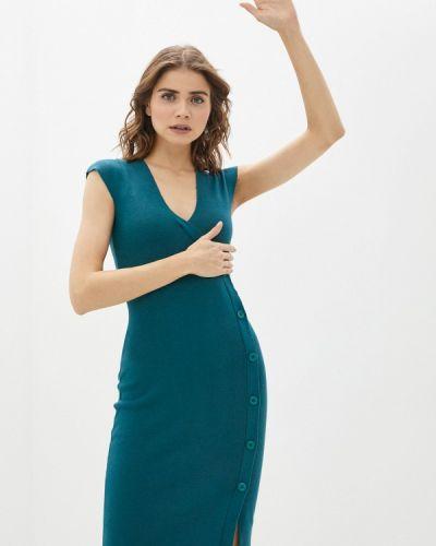Бирюзовое платье-футляр Rinascimento