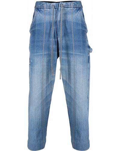 Niebieskie jeansy bawełniane Greg Lauren