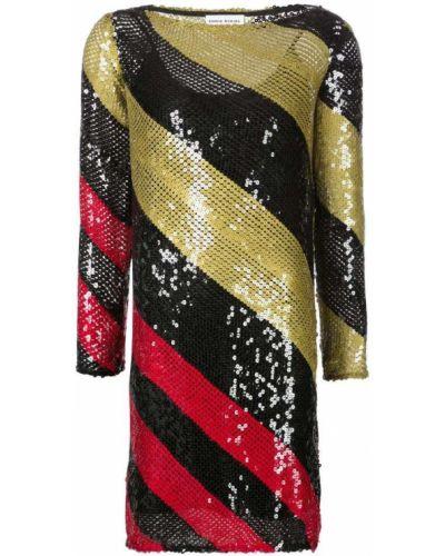 Платье с пайетками - черное Sonia Rykiel
