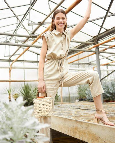Kombinezon krótki krótki rękaw bawełniany zapinane na guziki Orsay