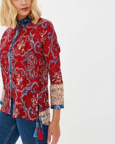 Красная блузка с длинным рукавом Desigual