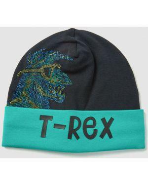 Синяя шапка с воротником с отворотом Ostin