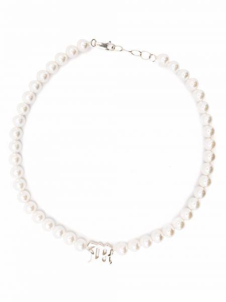Biały naszyjnik z pereł Misbhv