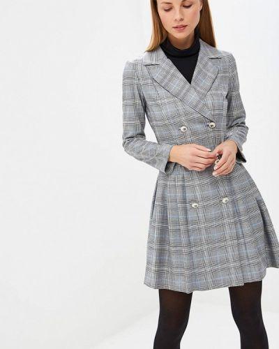 Платье серое платье-пиджак Bezko