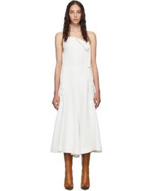 Платье с поясом с открытой спиной на пуговицах Jacquemus
