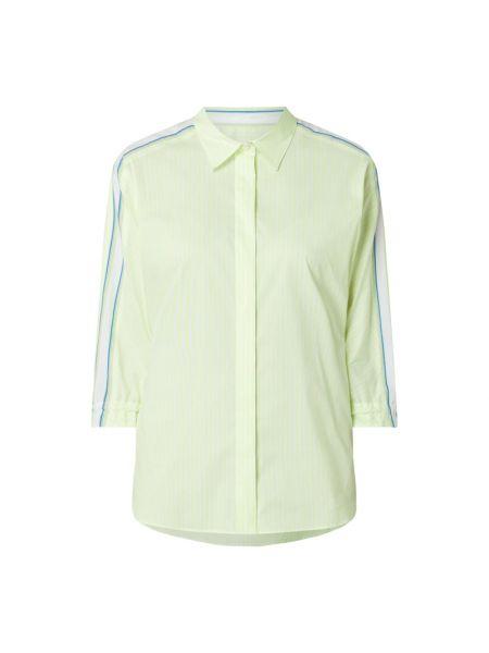 Żółta bluzka w paski bawełniana Marc Cain