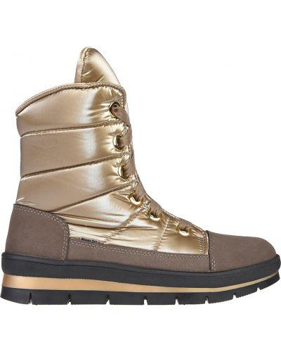 Ботинки на платформе - золотые Jog Dog
