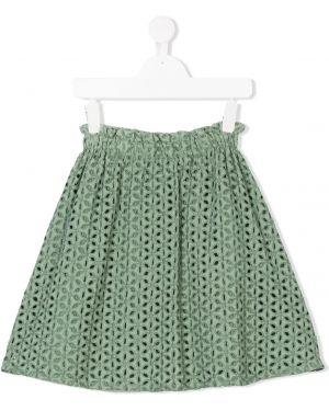 Хлопковая зеленая юбка эластичная Tuchinda
