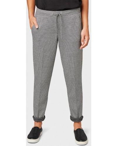 Серые брюки повседневные Tom Tailor