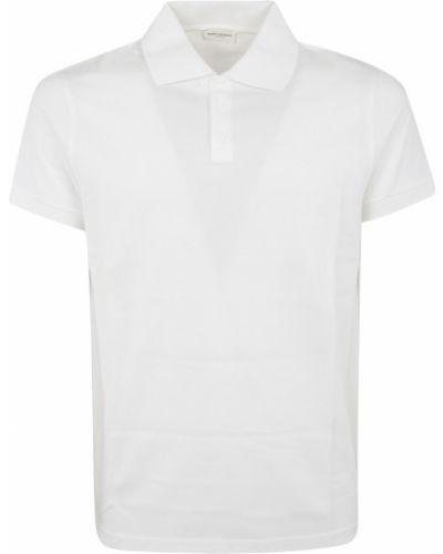 Biała koszula krótki rękaw - biała Saint Laurent