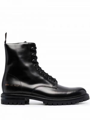 Ботильоны на шнуровке - черные Common Projects
