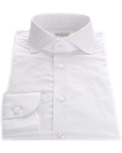 Biała klasyczna koszula Bagutta