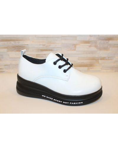 Кожаные туфли - белые Loretta