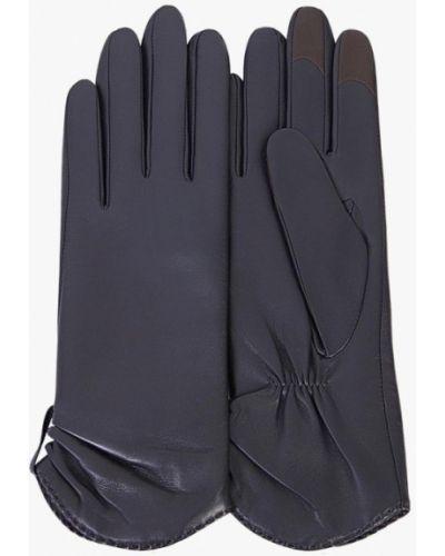Синие кожаные перчатки Michel Katana