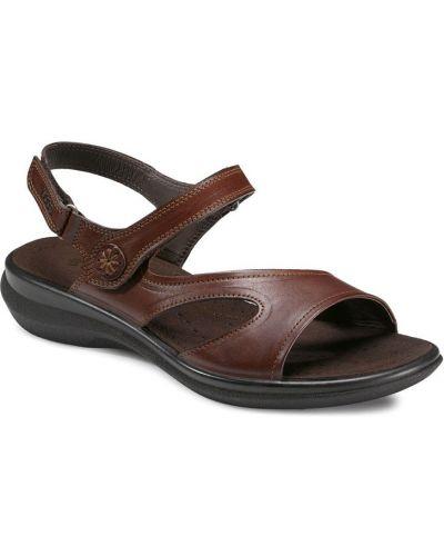 Сандалии коричневый на каблуке Ecco