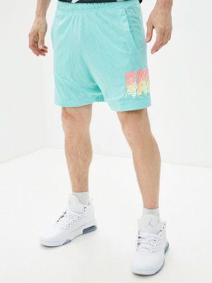 Бирюзовые спортивные шорты Jordan