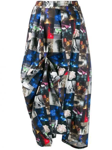 Приталенная юбка миди свободного кроя в рубчик Barbara Bologna