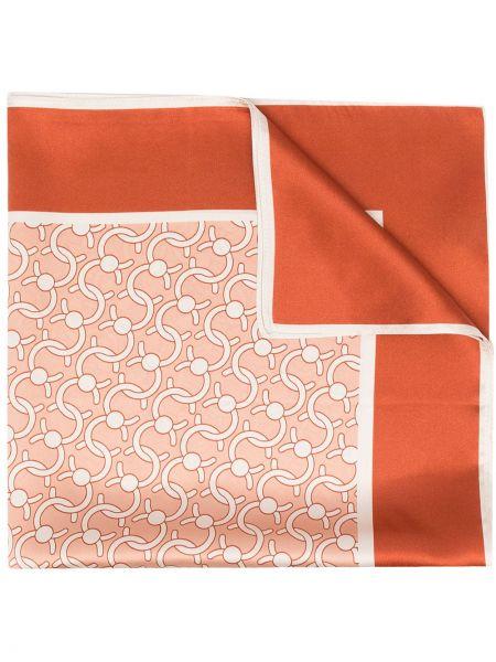 Czerwony szalik z jedwabiu Cafuné