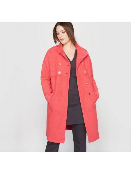 Пальто на кнопках с воротником-стойкой с воротником шерстяное Castaluna