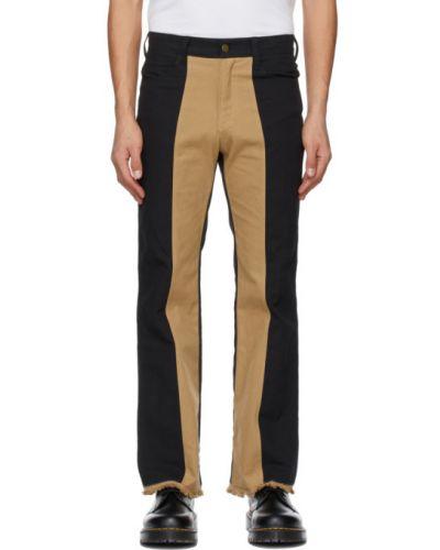 Черные льняные брюки с карманами Youths In Balaclava
