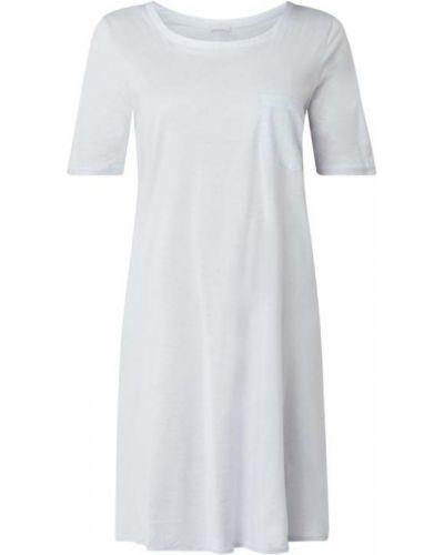Bawełna bawełna koszula nocna z dekoltem z kieszeniami Hanro