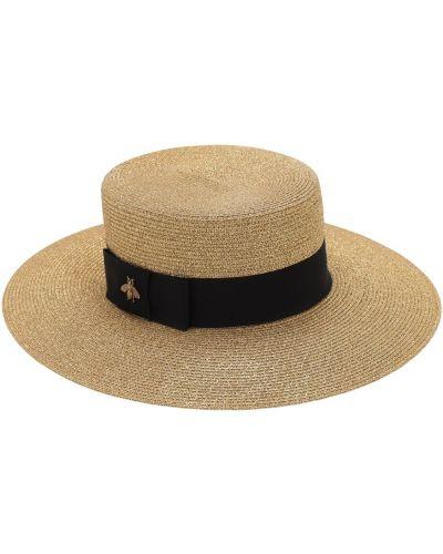 Beżowy kapelusz bawełniany Gucci