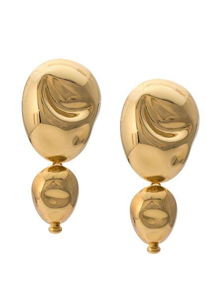 Złote kolczyki sztyfty pozłacane oversize Monica Sordo