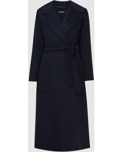 Шерстяное пальто - синее Max Mara