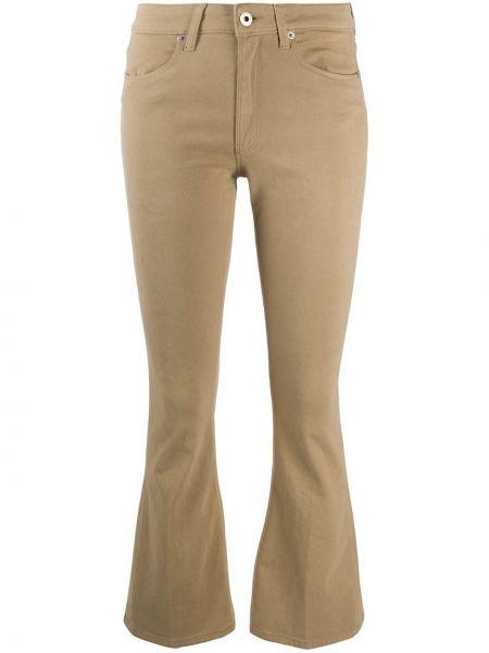 Хлопковые расклешенные с завышенной талией укороченные джинсы Dondup