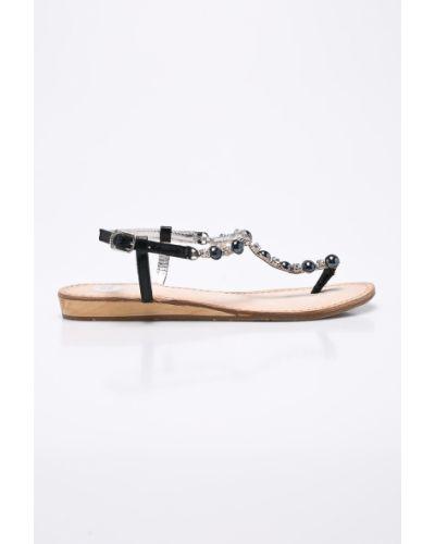Черные сандалии кожаный Gioseppo