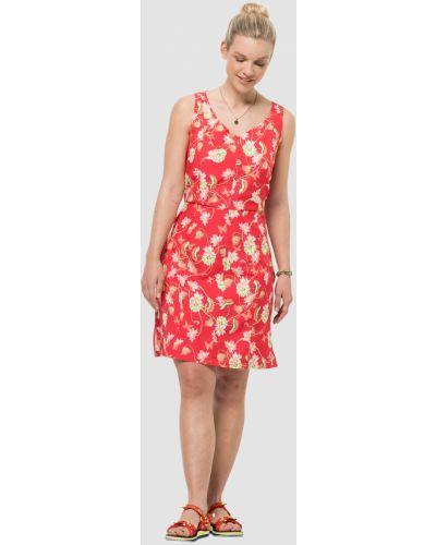 Красное платье с карманами Jack Wolfskin