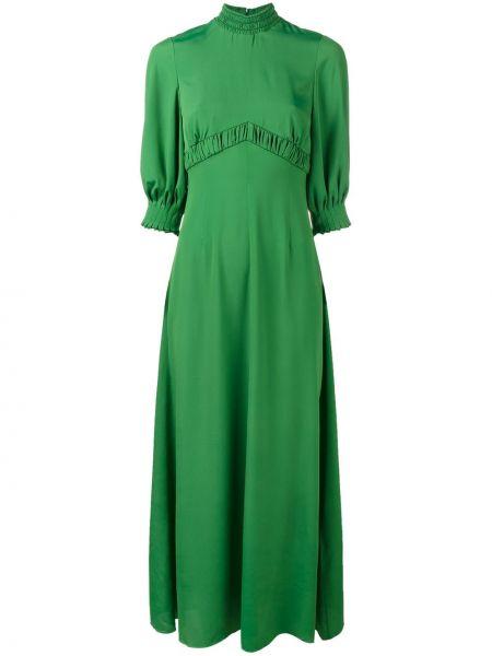 Зеленое шелковое платье Emilia Wickstead