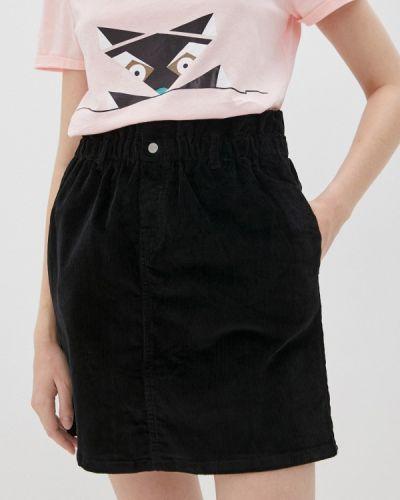 Черная прямая юбка карандаш Noisy May