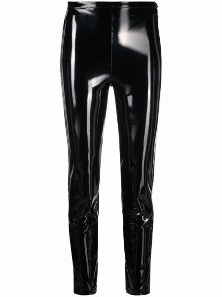 Кожаные брюки с защипами на молнии с завышенной талией Patrizia Pepe