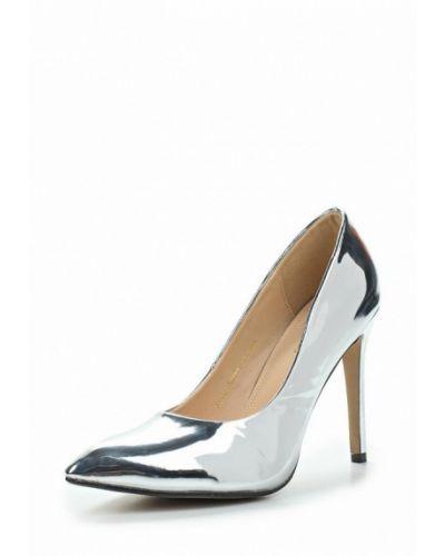 Туфли-лодочки серебряного цвета Sergio Todzi